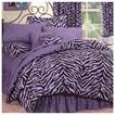 Zebra Print Bedding Collection - Lavender/Black