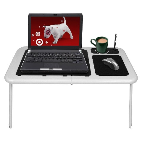Tg portable laptop table with cooling fans whi target - Computer table target ...