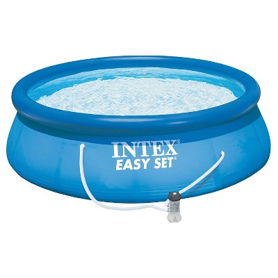 "Intex 12' X 36"" Easy Set Inflatable Above Ground Pool with Filter Pump"