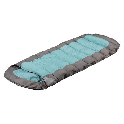 Embark 30 Degree Tall Sleeping Bag With Hood - Pale Emerald