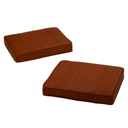 Madaga 2-Piece Outdoor Ottoman Replacement Cushion Set - Red