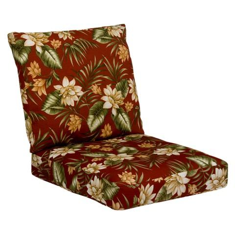 Tropiji Outdoor Conversation/Deep Seating Cushion Set - Red/Green Floral
