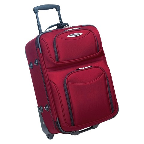 Traveler's Choice El Dorado Ballistic Nylon Carry-On Upright, Maroon