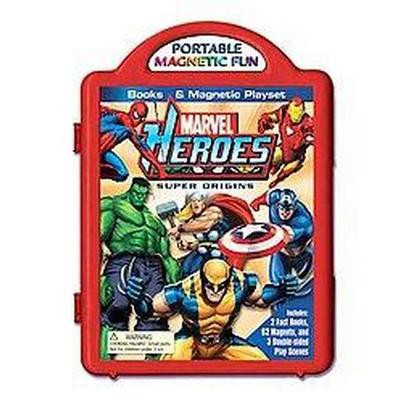 Marvel Heroes Super Origins Book & Magnetic Playset (Board)