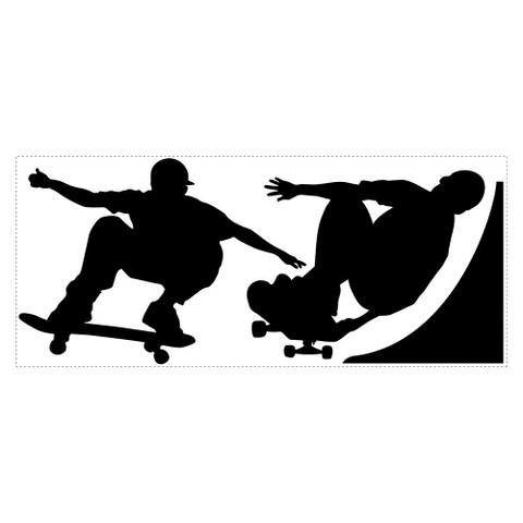 Chalk Board Skaters Peel & Stick Applique
