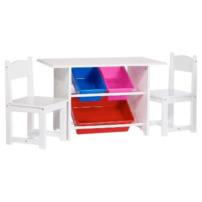 RiverRidge® Kids Table & Chairs Set- Red/Blue