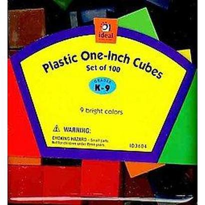 Plastic One-Inch Colored Cubes (Hardcover)