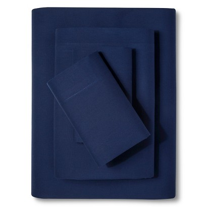 F SHEET SET  EASY CARE NAVY