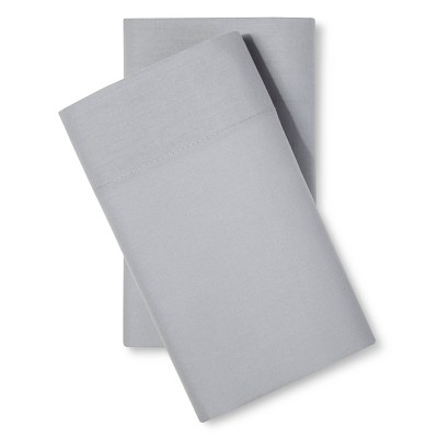 Room Essentials™ Easy Care Pillowcase Set - Gray Mist (Standard)