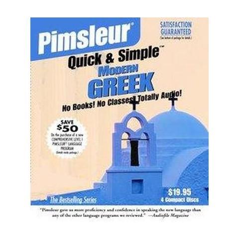 Pimsleur Quick & Simple Modern Greek (Abridged) (Compact Disc)