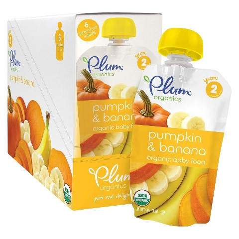 Plum Organics Baby Second Blends 6-pk. 4.22-oz. Pouch - Pumpkin Banana