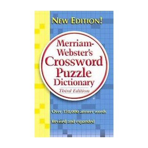 Merriam-webster's Crossword Puzzle Dictionary (Revised / Expanded) (Paperback)
