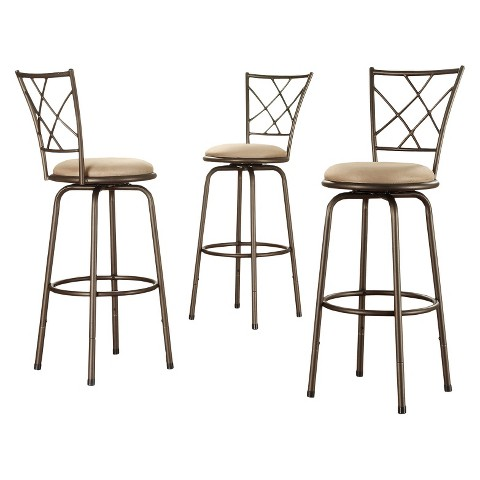 "Landen Quarter Cross-Back 24"" Counter Stool (Set of 3)"