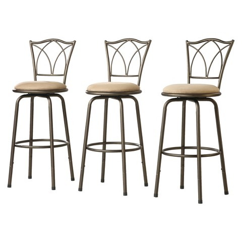 "Landen Double Cross-Back 24"" Counter Stool (Set of 3)"
