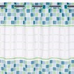 Hookless Mosaic PEVA Shower Curtain