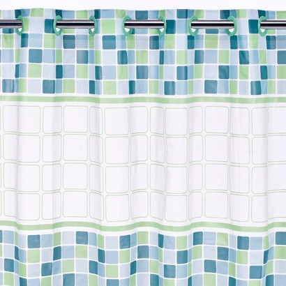 Hookless Mosiac PEVA Shower Curtain - 71x74""