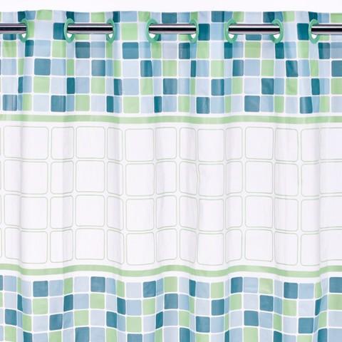 Hookless Mosaic Peva Shower Curtain Target
