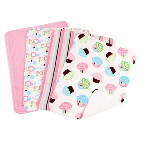 Trend Lab 8 Pc. Bib and Burp Cloth Set - Cupcake