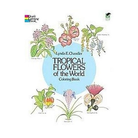 Tropical Flowers of the World Coloring Book (Paperback)
