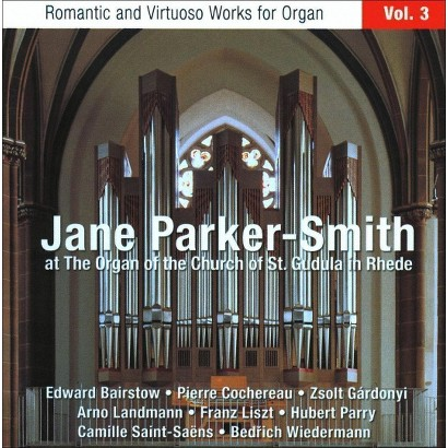 Jane Parker-Smith at the Organ of the Church of St. Gudula in Rhede