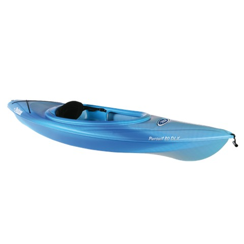 Pelican Pursuit 80 DLX kayak - Blue/ White (8')