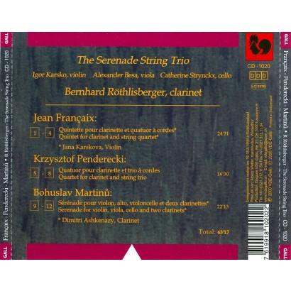 Contemporary Trios for Clarinet & Strings