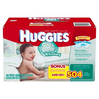 HUGGIES One & Done Refreshing Baby Wipes Refill Pack - 504 Count