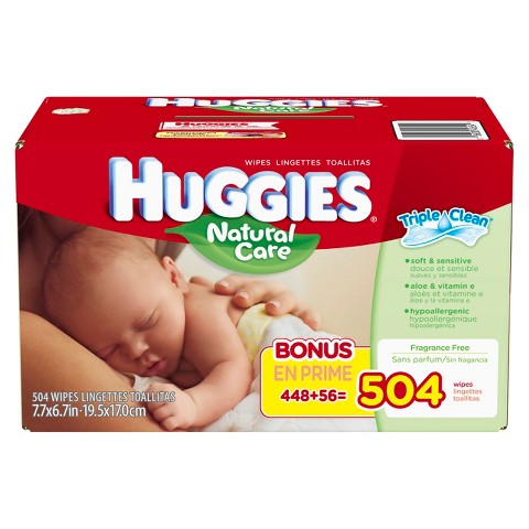 HUGGIES Natural Care Baby Wipes Refills - 504 Count