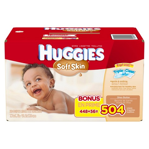 HUGGIES® Soft Skin Baby Wipes Refill (504 count)