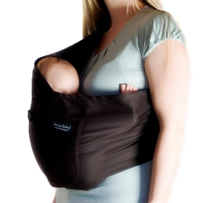 Karma Baby Organic Cotton Twill Sling Carrier - Espresso
