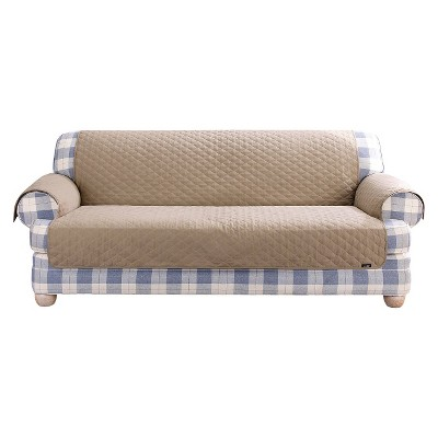 Sure Fit Quilted Duck Furniture Friend Pet Sofa Cover - Linen