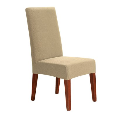 Sure Fit Stretch Honeycomb Short Dining Room Chair Slipcover - Tan