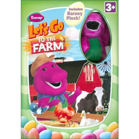 Barney: Let's Go to the Farm (With Easter Plush Toy)