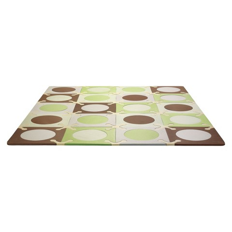 Skip Hop Playspot Foam Floor Tiles - Green/Brown