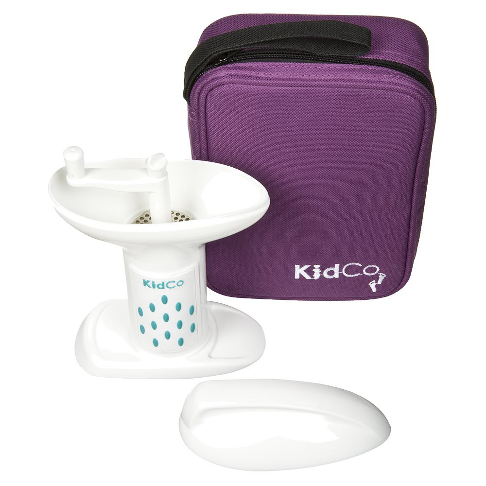 KidCo BabySteps Deluxe Food Mill with Travel Tote, White