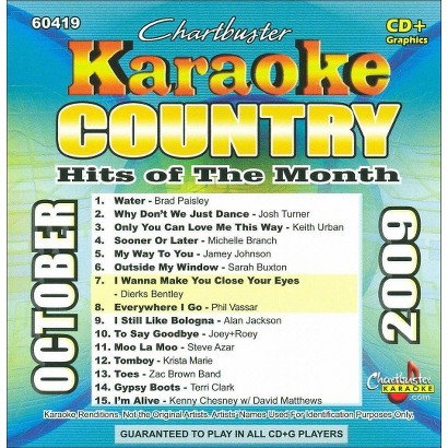Karaoke: Country Hits of Month October 2009