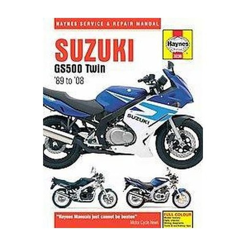 Haynes Service & Repair Manual Suzuki GS500 Twin 89-08 (Hardcover)