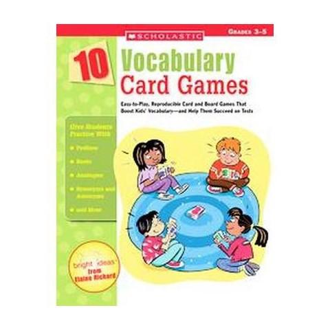 10 Vocabulary Card Games (Paperback)