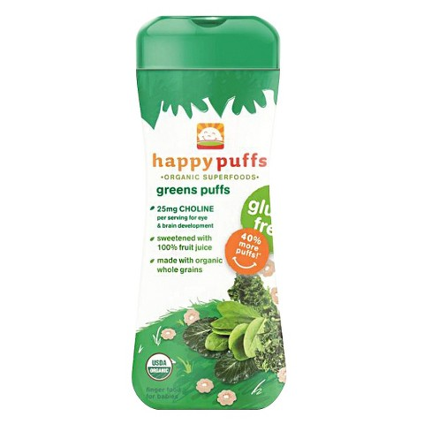Happy Baby Organic Greens Puffs (6 Pack)