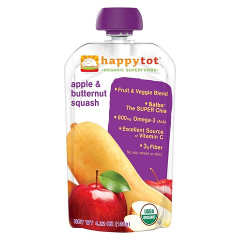 Happy Baby Happy Tot Organic Superfoods - Apple & Butternut Squash (16 Pack)