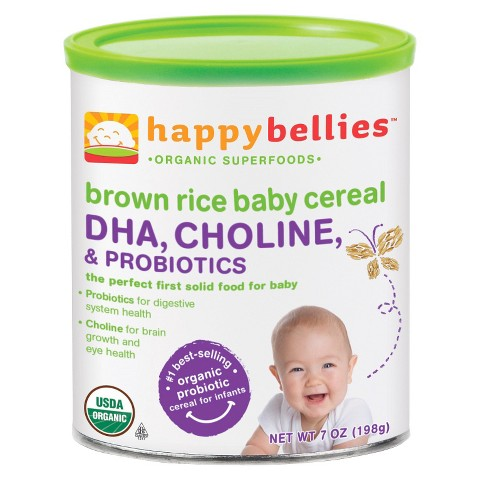 Happy Bellies - Organic Brown Rice Cereal - 7oz(6 Pack)