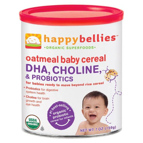 Happy Bellies - Organic Oatmeal Cereal - 7oz (6 Pack)