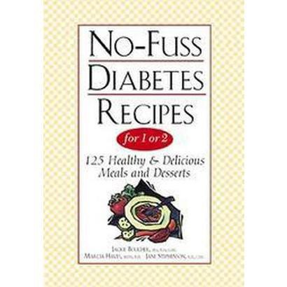 No-Fuss Diabetes Recipes for 1 or 2 (Large Print) (Paperback)