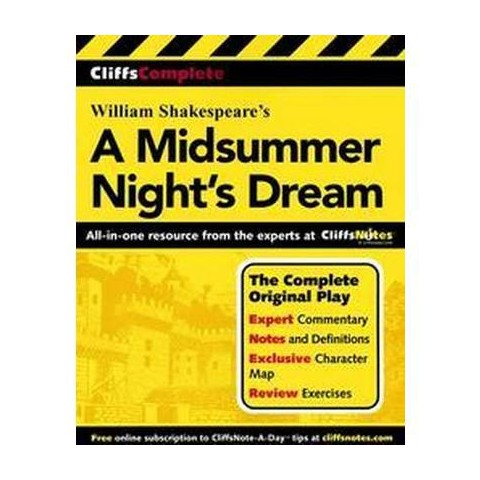 Cliffscomplete Shakespeare's a Midsummer Nights Dream (Paperback)