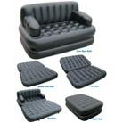 Pure Comfort 5-in-1 Sofa Bed - Black