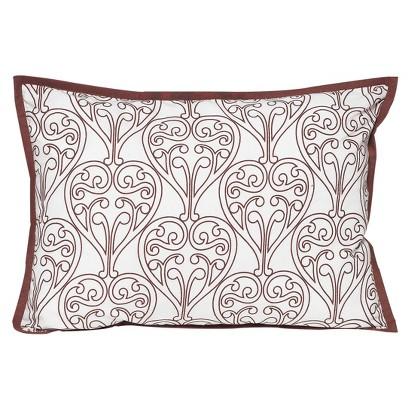 Bacati Damask Decorative Pillow - Pink/Chocolate