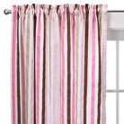 Bacati Pink/Chocolate Mod Dots and Stripes Panel