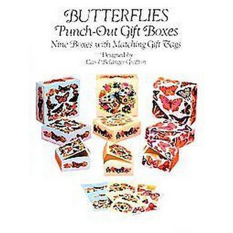 Butterflies Punch-Out Gift Boxes (Paperback)