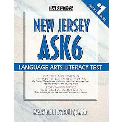 Barron's New Jersey Ask6 Language Arts Literacy Test (Paperback)