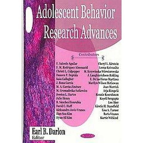 Adolescent Behavior Research Advances (Hardcover)